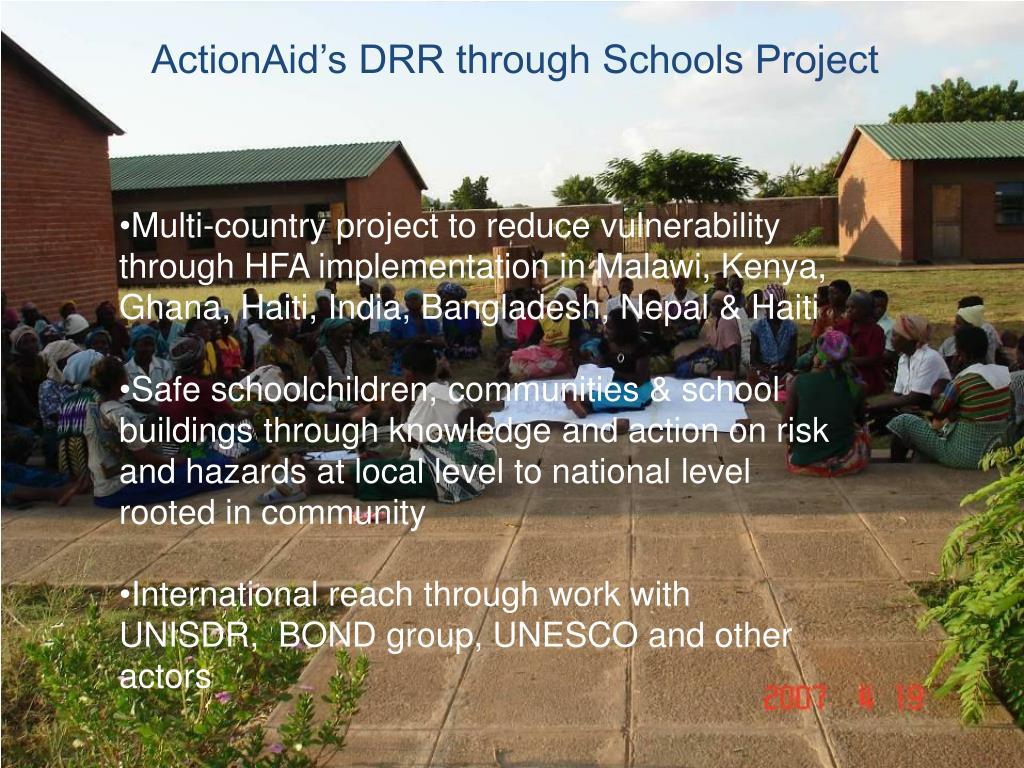 ActionAid's DRR through Schools Project