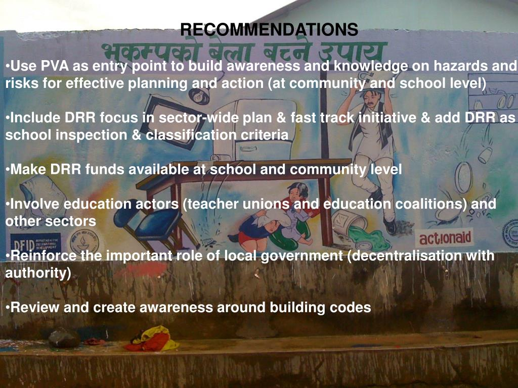 Some key recommendations