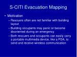 s citi evacuation mapping