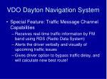 vdo dayton navigation system