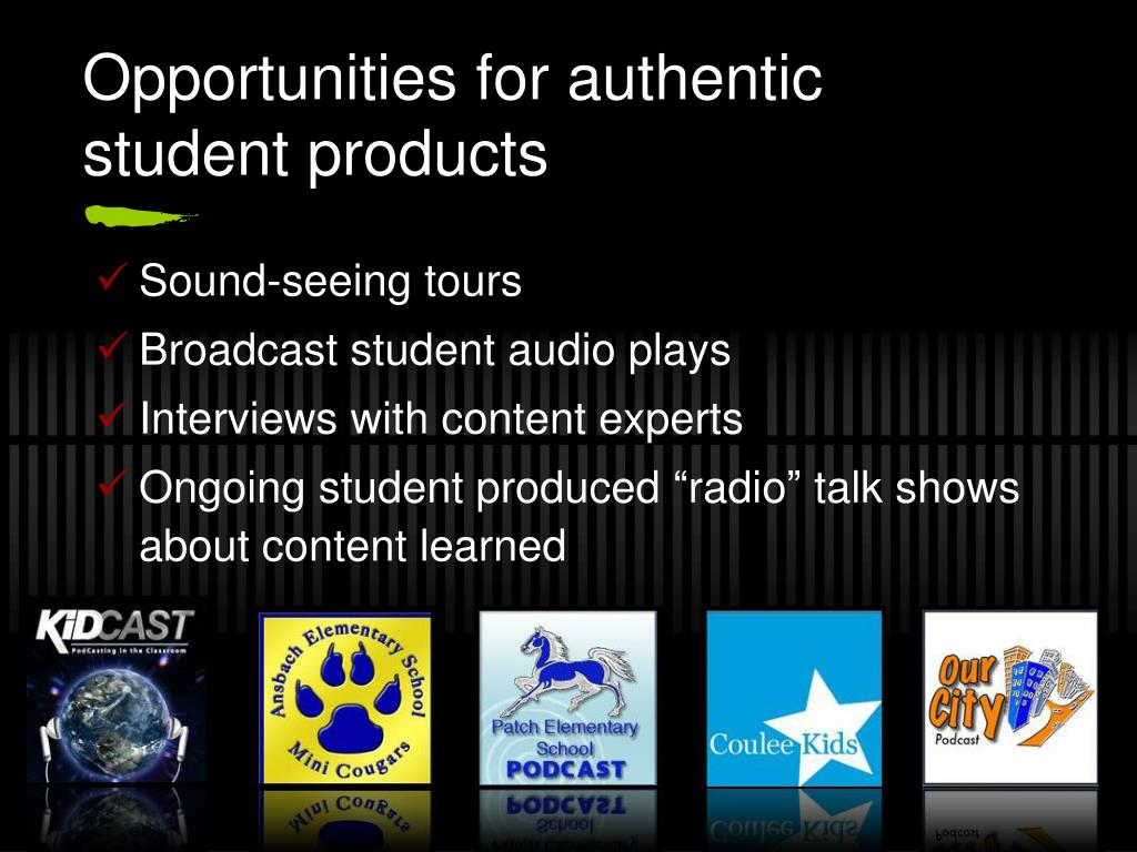 Opportunities for authentic