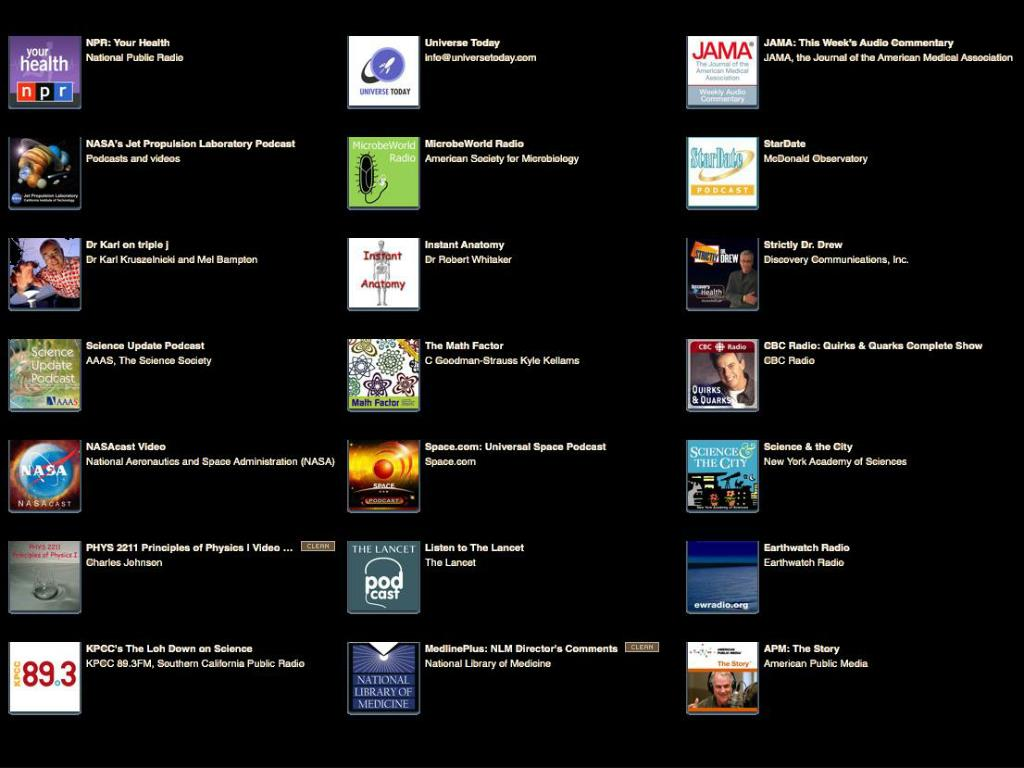 Podcasts Sources
