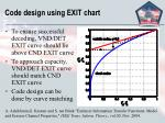 code design using exit chart14