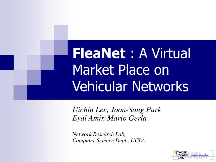 fleanet a virtual market place on vehicular networks n.