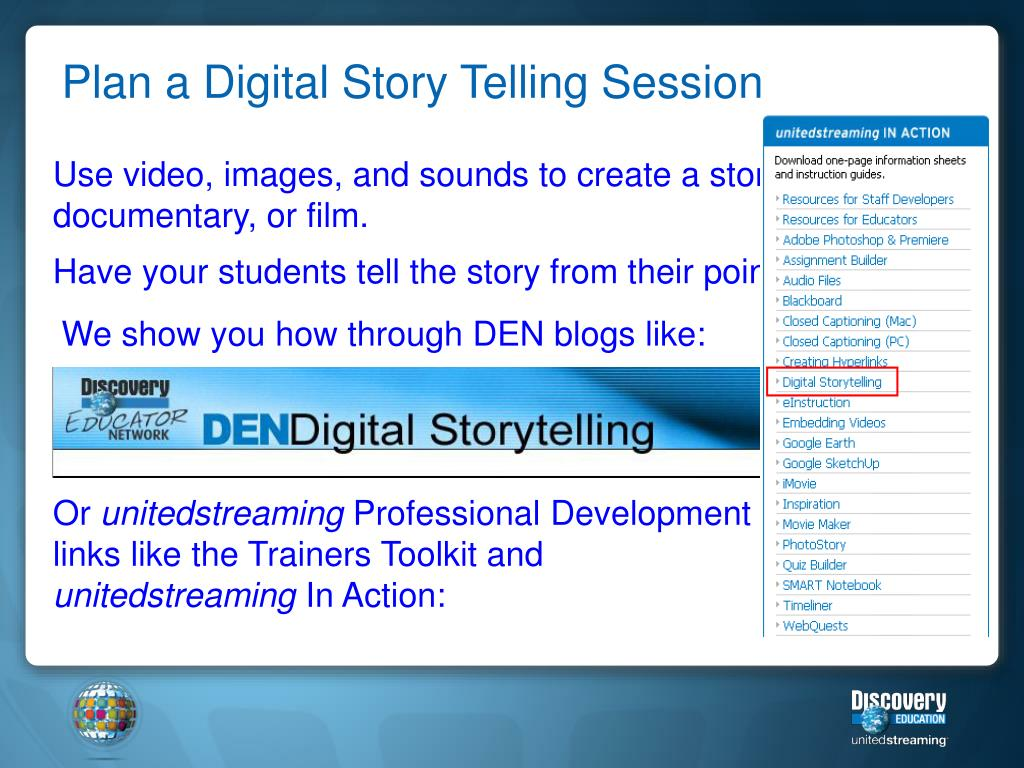 Plan a Digital Story Telling Session