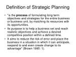 definition of strategic planning