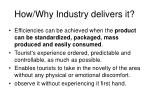 how why industry delivers it