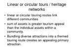 linear or circular tours heritage networks