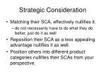 strategic consideration