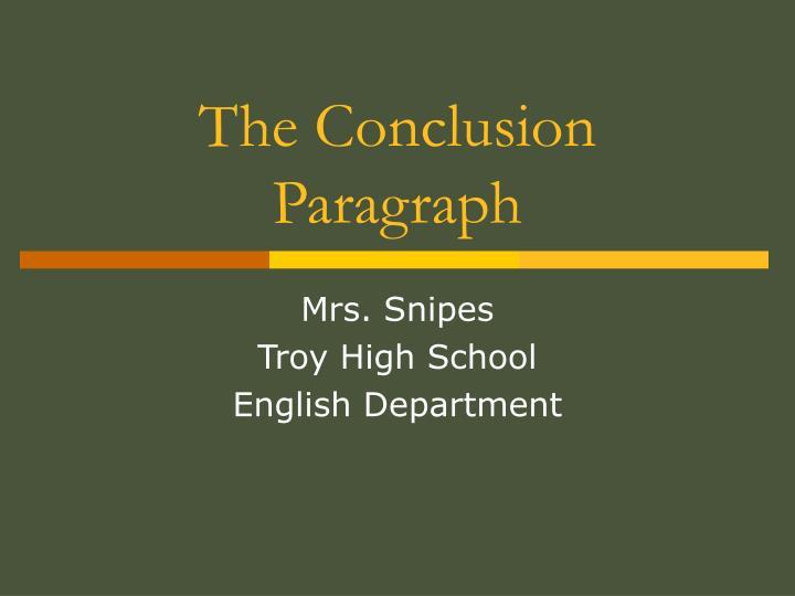 the conclusion paragraph n.
