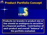 product portfolio concept