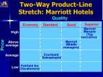 two way product line stretch marriott hotels