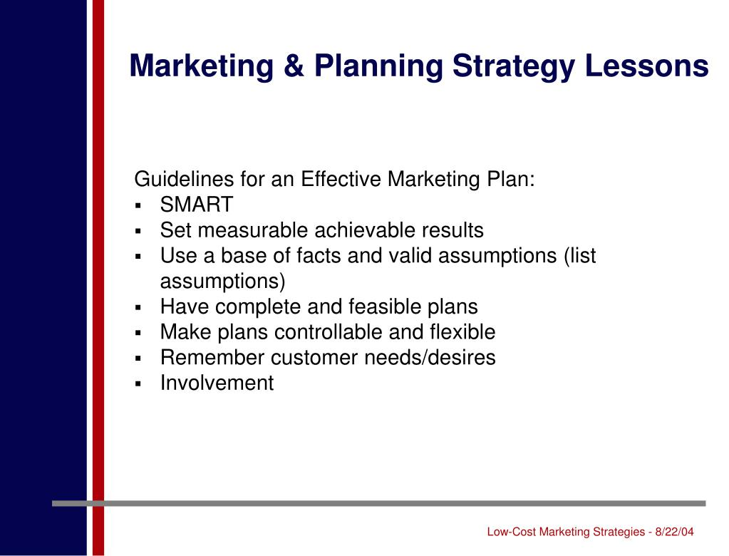Marketing & Planning Strategy Lessons