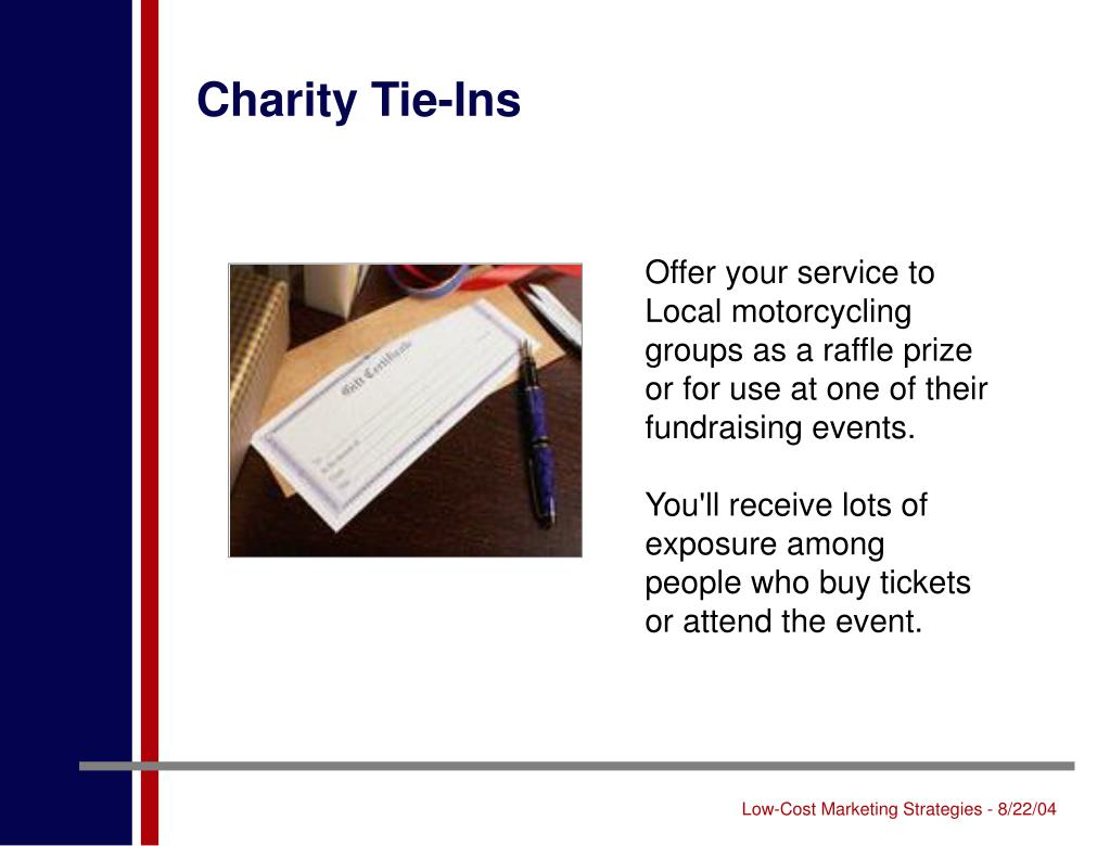Charity Tie-Ins