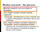 market research the process