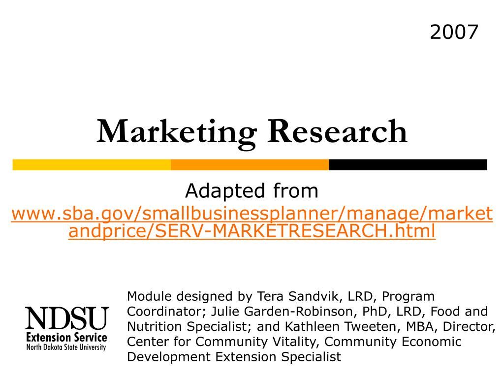 marketing research l.
