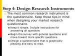 step 4 design research instruments