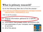what is primary research