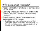 why do market research