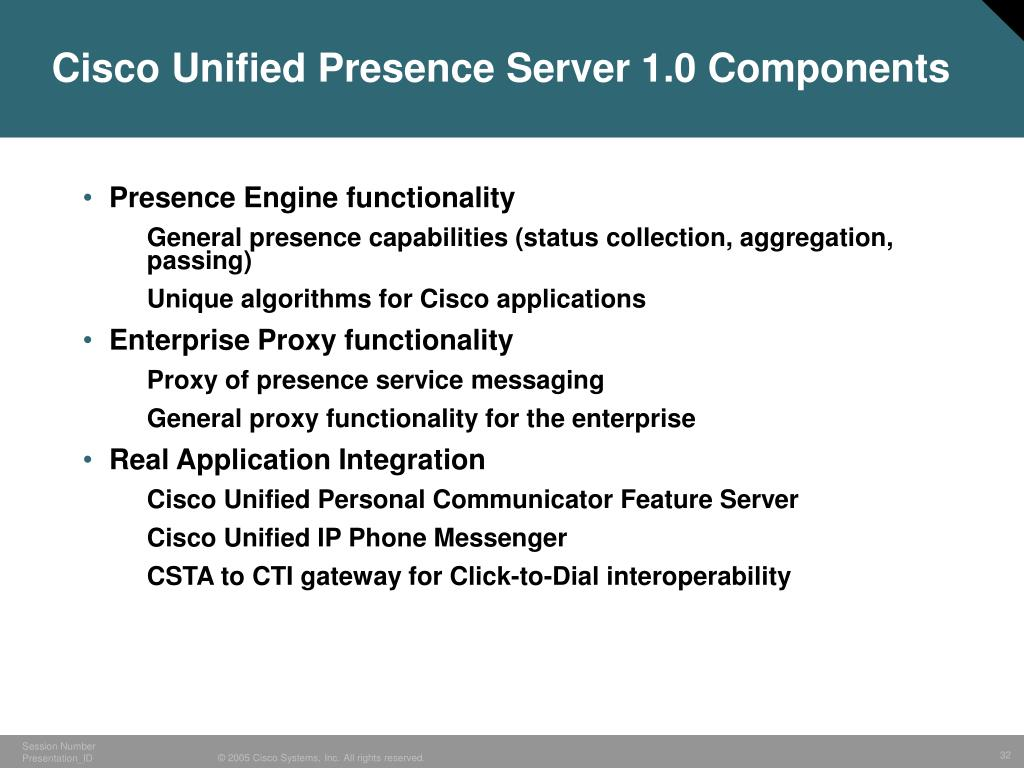 Cisco Unified Presence Server 1.0 Components