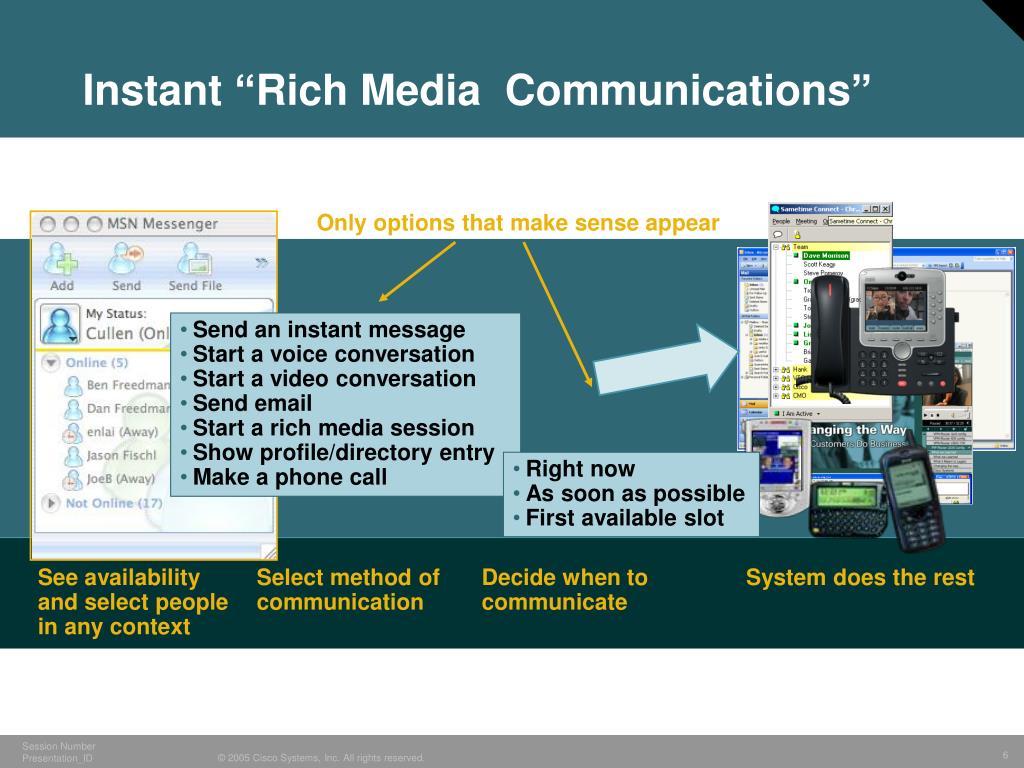 "Instant ""Rich Media  Communications"""