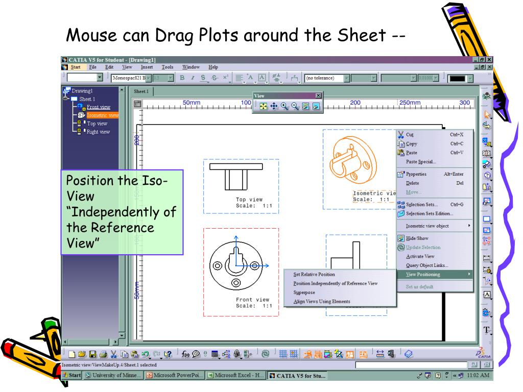 Mouse can Drag Plots around the Sheet --