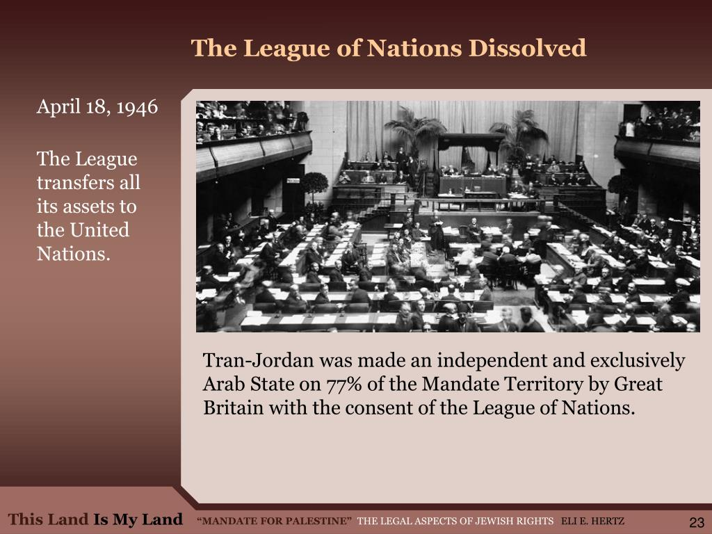 The League of Nations Dissolved