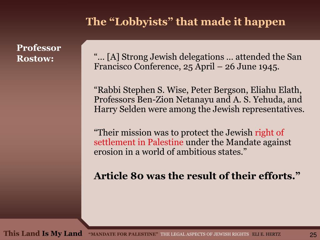 "The ""Lobbyists"" that made it happen"