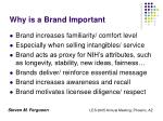 why is a brand important