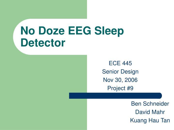 no doze eeg sleep detector n.