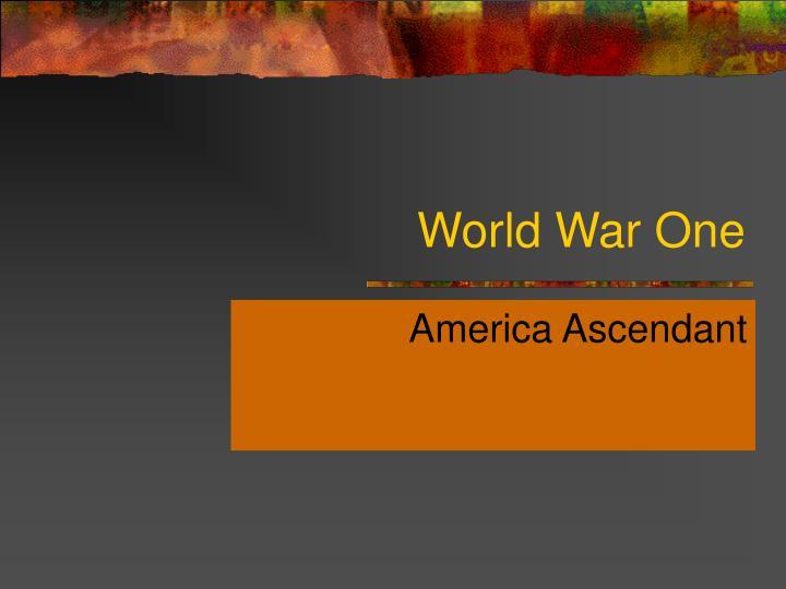 world war one n.