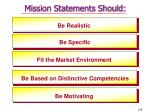 mission statements should