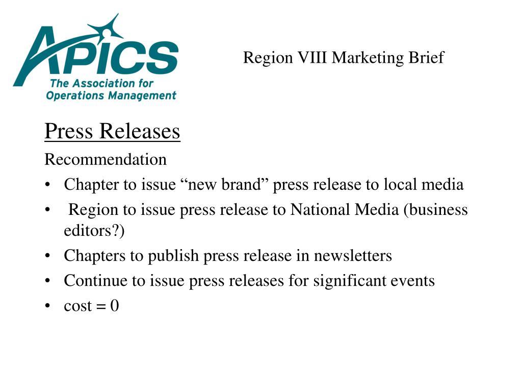 Region VIII Marketing Brief