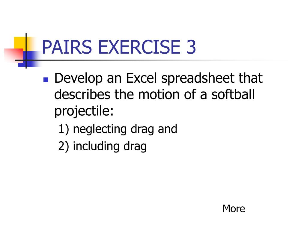 PAIRS EXERCISE 3