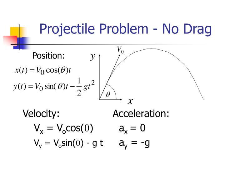 Projectile problem no drag