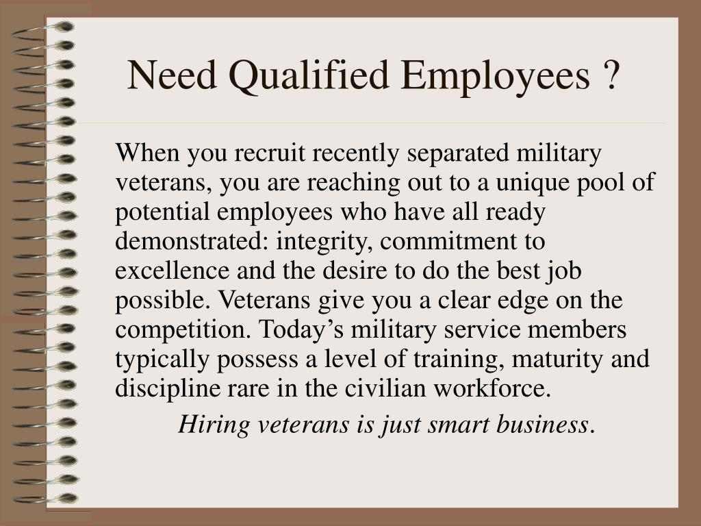 need qualified employees l.