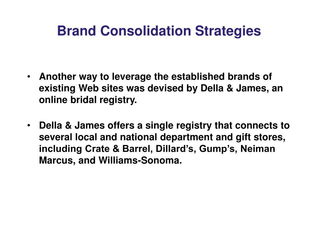 Brand Consolidation Strategies