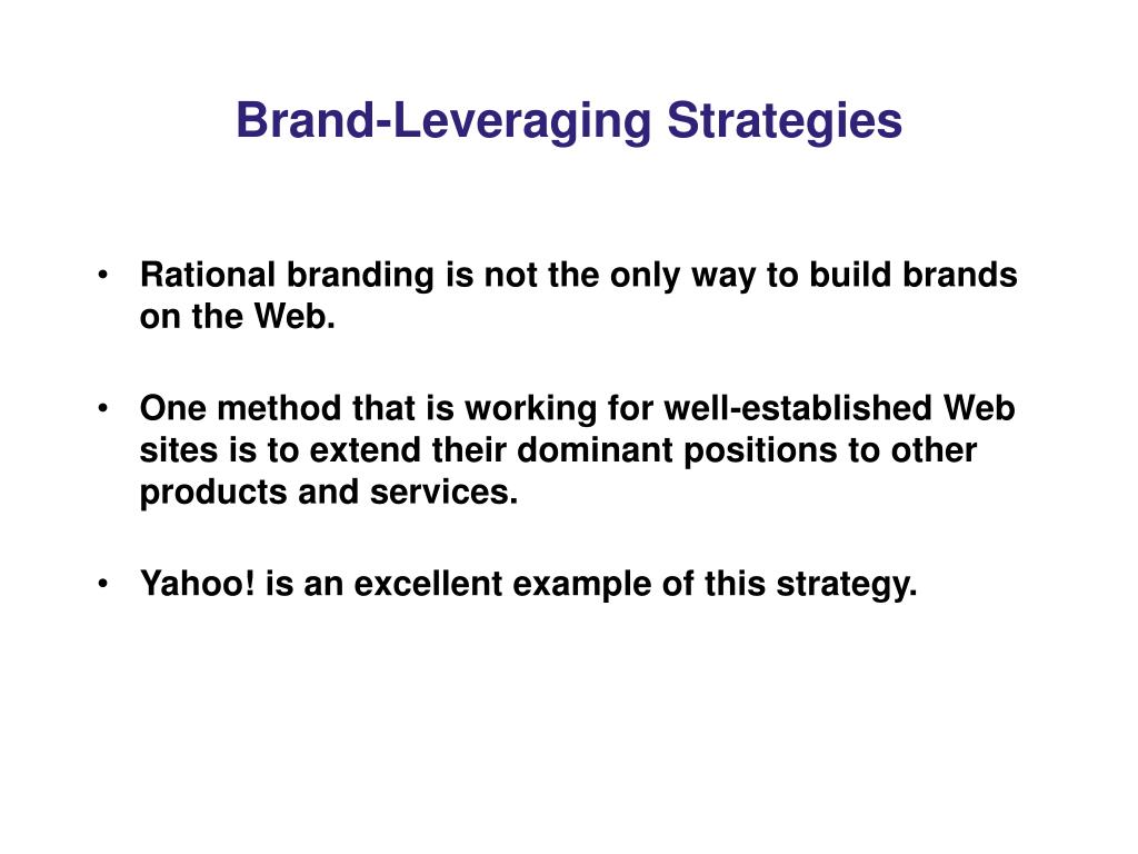 Brand-Leveraging Strategies