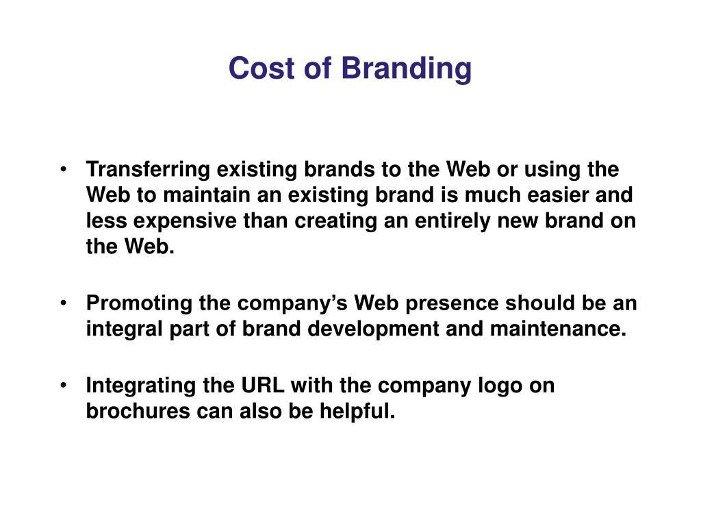 Cost of Branding