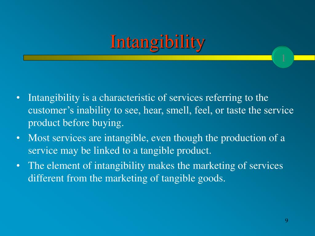 Intangibility