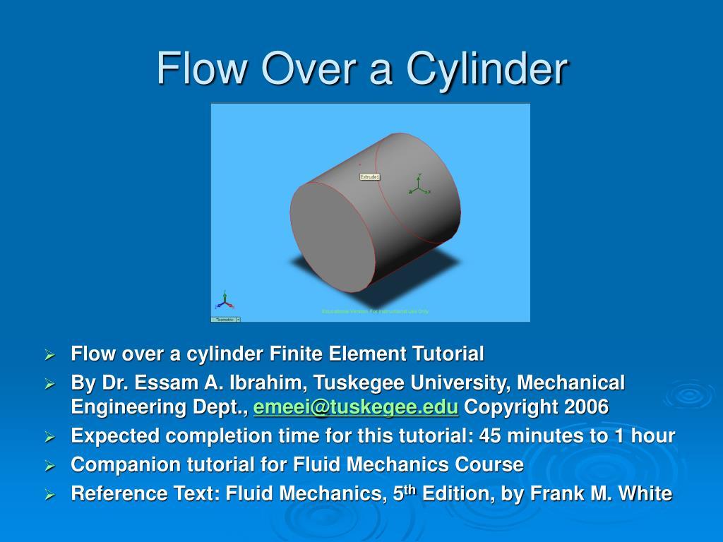 flow over a cylinder l.
