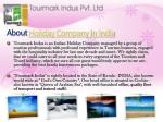 about holiday company in india