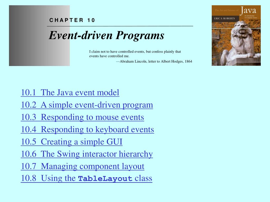 chapter 10 event driven programs l.