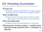 cfi preventing circumvention