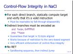 control flow integrity in nacl