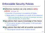 enforceable security policies