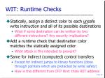 wit runtime checks