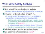 wit write safety analysis
