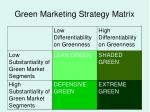 green marketing strategy matrix