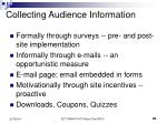 collecting audience information